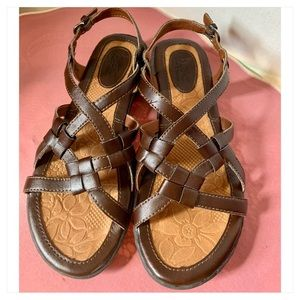 B.O.C criss cross leather sandals.